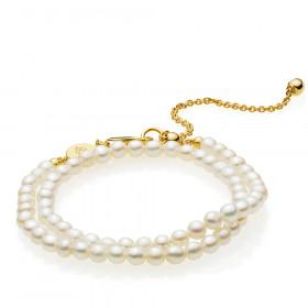 Jackie armbånd med hvide shell perler fra Izabel Camille