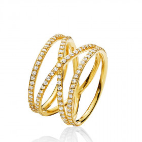 Promise ring i guld fra Izabel Camille