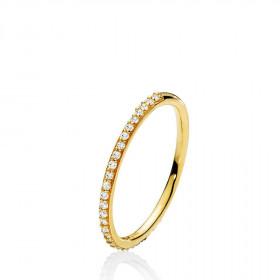 Promise small ring i guld fra Izabel Camille