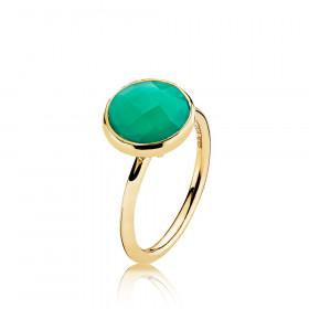 Prima Donna ring i guld med grøn onyx fra Izabel Camille