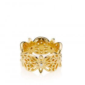 Blossom ring i guld fra Izabel Camille