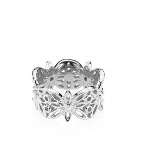 Blank blossom ring i sølv fra Izabel Camille