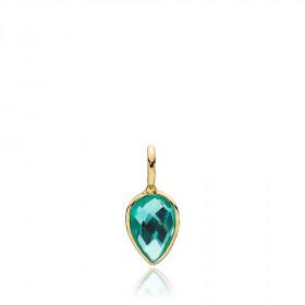 Dew Drop vedhæng i guld med en grøn quarts fra Izabel Camille.