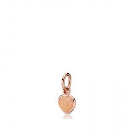 Heartdrop vedhæng i rosa guld med en sten af peach månesten fra Izabel Camille.