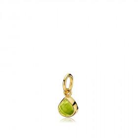 Tiny drop vedhæng i guld med en grøn peridot dråbe fra Izabel Camille