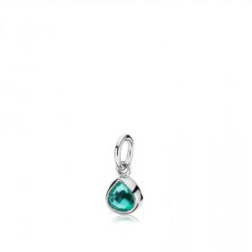 Tiny drop vedhæng i sølv med en grøn kvarts dråbe fra Izabel Camille