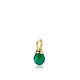 Wonder drop vedhæng i guld med en grøn onyx fra Izabel Camille.