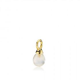 Wonder drop vedhæng i guld med en hvid calcedon fra Izabel Camille.
