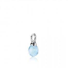 Wonder drop vedhæng i sølv med en blå calcedon fra Izabel Camille.