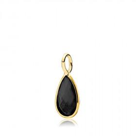 Gem Drop vedhæng i guld med en sort onyx fra Izabel Camille