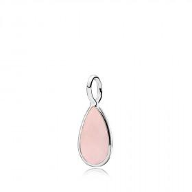 Gem Drop vedhæng i sølv med en pink calcedon fra Izabel Camille