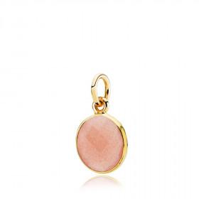Prima Donna vedhæng i guld med peach månesten fra Izabel Camille.