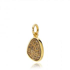 Mystery vedhæng i guld med dryzy sten fra Izabel Camille.