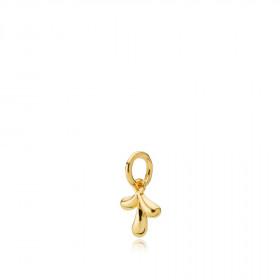 Embrace vedhæng i guld med bladmotiv fra Izabel Camille.