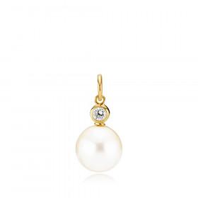 Jackie vedhæng i guld med hvid skal perle fra Izabel Camille