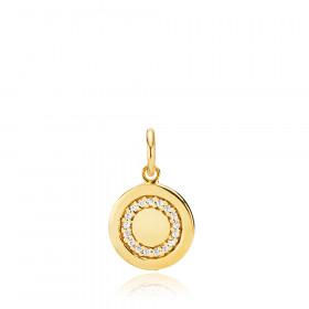 Cirkel Line vedhæng i guld fra Izabel Camille