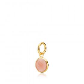 Lille Prima Donna vedhæng i guld med peach moonstone fra Izabel Camille