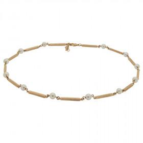 Halskæde i 8kt guld med perler fra Siersbøl