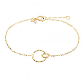 Double Cirkle armbånd i guld fra Enamel