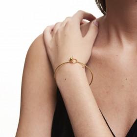 Color lock armbånd i guld fra Enamel.