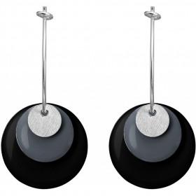 Drops Coin øreringe i sølv og emalje fra Enamel