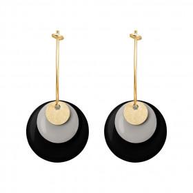 Drops Coin øreringe i forgyldt sølv og emalje fra Enamel
