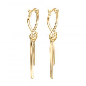 Love Knot øreringe i guld fra Enamel