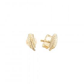 Leaf øreringe i guld fra Enamel