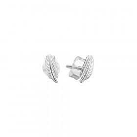 Leaf øreringe i sølv fra Enamel