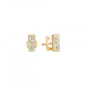 Rough Diamond øreringe i guld fra Enamel