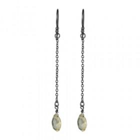 Øreringe i sølv sort rhodineret fra JewlsCPH