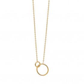 Double Cirkle halskæde i guld fra Enamel