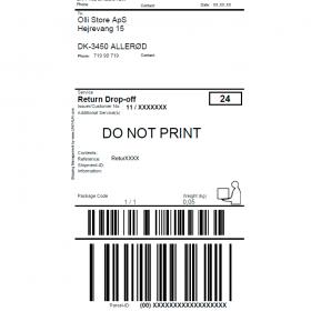 Post Nord DK returlabel