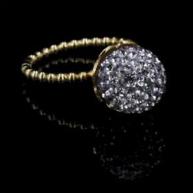 Grey Diamond ring i sølv forgyldt fra Priesme