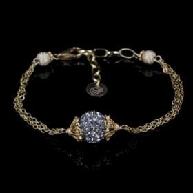 Grey Diamond armbånd i sølv forgyldt fra Priesme