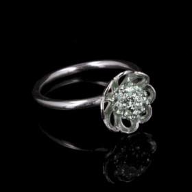 Elegant Mint ring i sølv fra Priesme