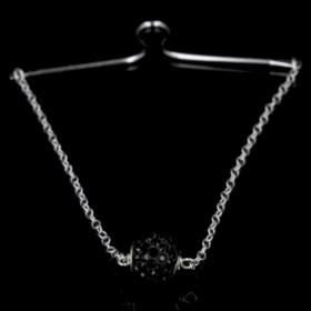 Black Swan slipsebøjle i sølv fra Priesme