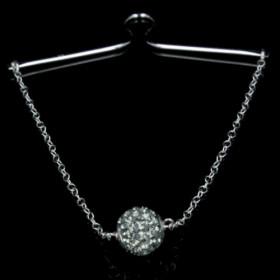 Grey Diamond slipsebøjle i sølv fra Priesme