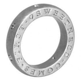 ID Jewelry Ring i forsølvet messing med Swarovskikrystaller fra Sence Copenhagen
