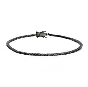 Armbånd i sort sølv med  zirkoner fra Nordahl Andersen.