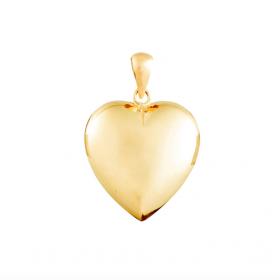 Smuk hjerte vedhæng i guld fra Nordahl Andersen.