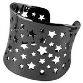 Rockstar armbånd i sølv sort rhodineret fra Izabel Camille