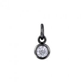 Combo Basics vedhæng i sølv sort rhodineret fra Izabel Camille
