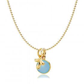 Candy vedhæng i guld med blå calcedon fra Izabel Camille.